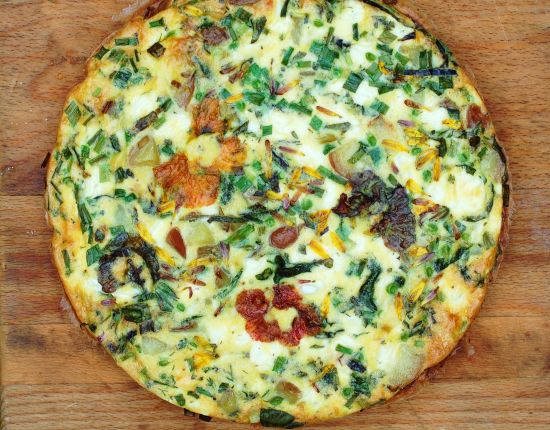 with vegetables zucchini frittata with herbs goat cheese frittata with ...